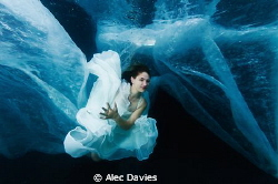 First underwater shoot. Shot in swimming pool with Janine... by Alec Davies 
